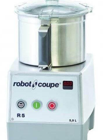 Robot Coupe R 5-1V Set Üstü Parçalayıcı Mikser, 5.5 L Paslanmaz Çelik Hazne, 1100 W
