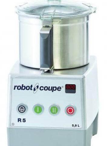 Robot Coupe R 5-2V Set Üstü Parçalayıcı Mikser, 5.5 L Paslanmaz Çelik Hazne, 1200 W
