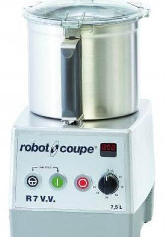 Robot Coupe R 7 V.V Set Üstü Parçalayıcı Mikser, 7 L Paslanmaz Çelik Hazne, 1500 W