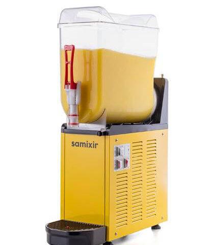 Samixir SLUSH Mono 12 L Slush, Granita, Meyve Suyu Dispenseri, Sarı Renk